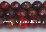 CBD378 15.5 inches 10mm faceted round poppy jasper beads