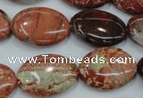 CBD42 15.5 inches 18*25mm oval brecciated jasper gemstone beads