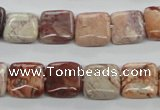 CBD52 15.5 inches 12*12mm Square brecciated jasper gemstone beads