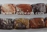 CBD55 15.5 inches 13*18mm rectangle brecciated jasper gemstone beads