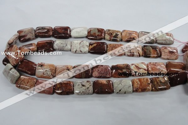 CBD56 15.5 inches 15*20mm rectangle brecciated jasper gemstone beads