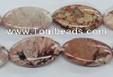 CBD57 15.5 inches 15*25mm oval brecciated jasper gemstone beads
