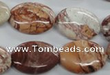 CBD58 15.5 inches 18*25mm oval brecciated jasper gemstone beads