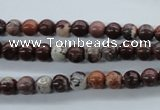CBD60 15.5 inches 6mm round brecciated jasper gemstone beads
