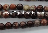 CBD61 15.5 inches 8mm round brecciated jasper gemstone beads