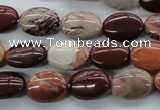 CBD71 15.5 inches 10*14mm oval brecciated jasper gemstone beads