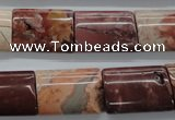 CBD77 15.5 inches 15*20mm flat tube brecciated jasper gemstone beads
