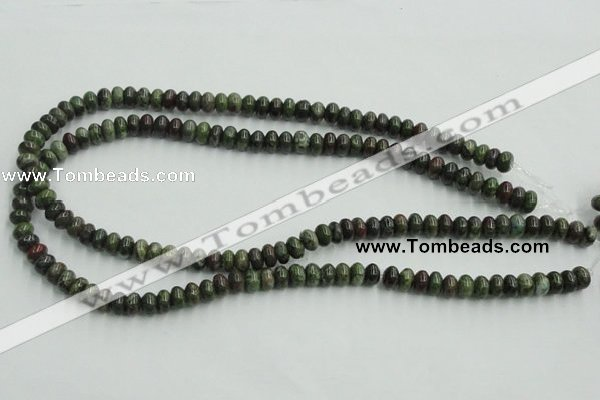 CBG03 15.5 inches 5*8mm rondelle bronze green gemstone beads