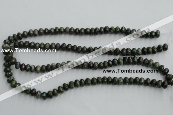 CBG04 15.5 inches 6*10mm rondelle bronze green gemstone beads
