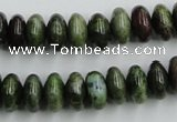 CBG05 15.5 inches 6*12mm rondelle bronze green gemstone beads