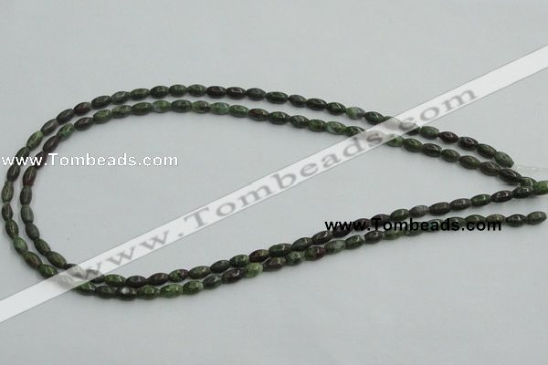 CBG06 15.5 inches 4*6mm rice bronze green gemstone beads wholesale