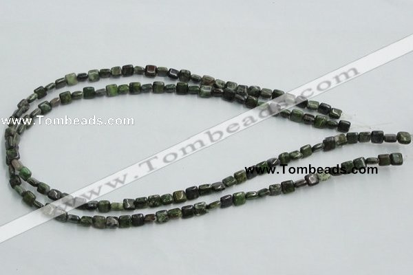 CBG16 15.5 inches 6*6mm square bronze green gemstone beads wholesale