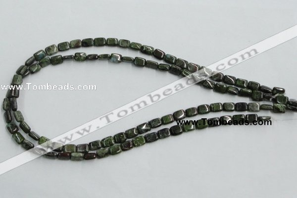 CBG19 15.5 inches 6*8mm rectangle bronze green gemstone beads