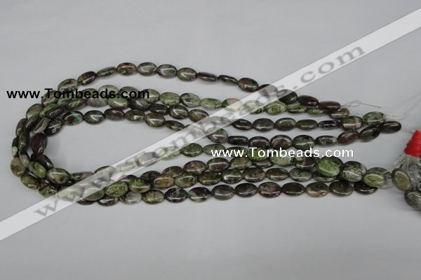 CBG27 15.5 inches 8*12mm oval bronze green gemstone beads