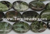 CBG30 15.5 inches 13*18mm oval bronze green gemstone beads