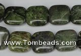 CBG41 15.5 inches 16*16mm square bronze green gemstone beads
