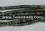 CBG74 15.5 inches 3*4mm heishi bronze green gemstone beads