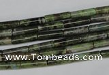 CBG75 15.5 inches 4*14mm tube bronze green gemstone beads