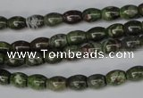 CBG78 15.5 inches 6*7mm rice bronze green gemstone beads