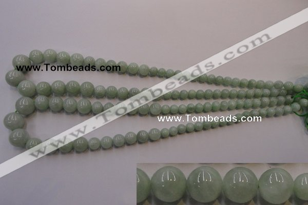 CBJ409 15.5 inches 6mm - 12mm round natural jade beads wholesale