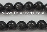 CBJ503 15.5 inches 8mm round black jade beads wholesale