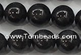CBJ505 15.5 inches 12mm round black jade beads wholesale