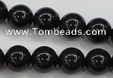 CBJ554 15.5 inches 10mm round Russian black jade beads wholesale