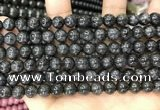 CBJ559 15.5 inches 8mm round black jade beads wholesale
