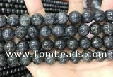 CBJ561 15.5 inches 12mm round black jade beads wholesale