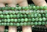 CBJ636 15.5 inches 6mm round Russian green jade beads wholesale