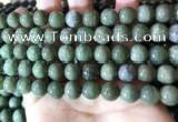 CBJ703 15.5 inches 10mm round green jade beads wholesale