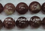 CBQ206 15.5 inches 16mm round strawberry quartz beads wholesale