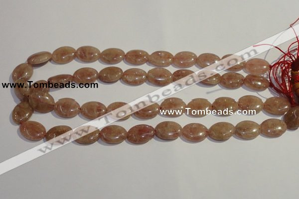 CBQ23 15.5 inches 15*20mm oval strawberry quartz beads wholesale