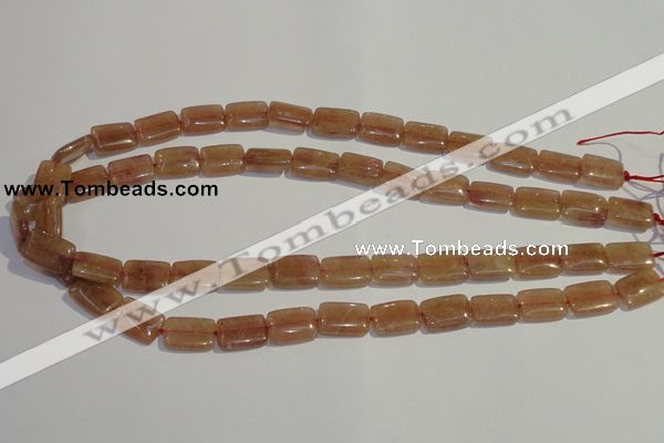 CBQ30 15.5 inches 10*14mm rectangle strawberry quartz beads