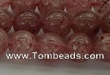 CBQ303 15.5 inches 10mm round naturastrawberry quartz beads