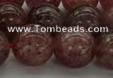 CBQ305 15.5 inches 14mm round natural strawberry quartz beads