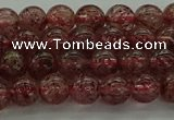 CBQ311 15.5 inches 6mm round naturastrawberry quartz beads