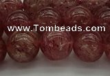CBQ313 15.5 inches 10mm round natural strawberry quartz beads