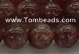 CBQ314 15.5 inches 12mm round naturastrawberry quartz beads