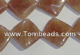 CBQ33 15.5 inches 16*16mm diamond strawberry quartz beads wholesale