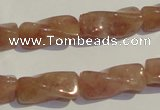 CBQ38 15.5 inches 10*22mm twisted strawberry quartz beads