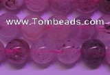 CBQ402 15 inches 8mm round natural strawberry quartz beads