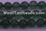 CBQ421 15.5 inches 6mm round green strawberry quartz beads