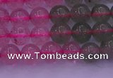 CBQ428 15.5 inches 7mm round mixed strawberry quartz beads