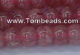 CBQ441 15.5 inches 10*12mm rondelle strawberry quartz beads