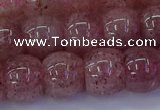 CBQ442 15.5 inches 12*16mm rondelle strawberry quartz beads