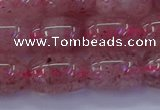 CBQ448 15.5 inches 12*16mm drum strawberry quartz beads