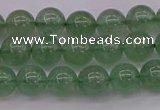 CBQ491 15.5 inches 6mm round green strawberry quartz beads