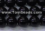 CBQ503 15.5 inches 10mm round natural black quartz beads