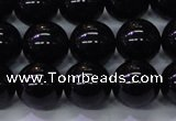 CBQ504 15.5 inches 12mm round natural black quartz beads